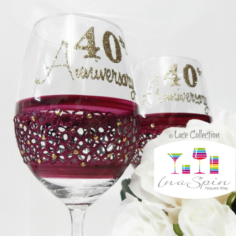 Ruby 40th Wedding Anniversary Gifts: 40th Anniversary Gift For Parents Ruby Anniversary Gifts 40th