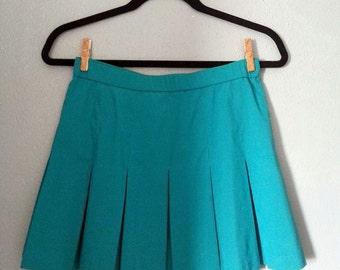 Vintage Turquoise Tennis Skirt