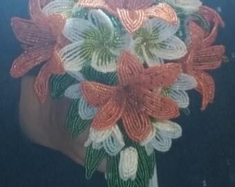 Beaded Flower Wedding Bouquet