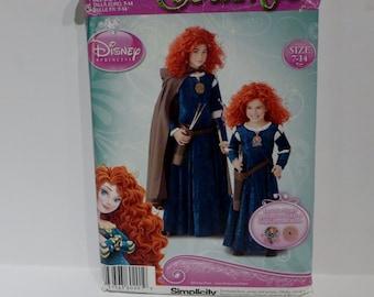 Simplicity Crafts #0201 Disney Princess Merida Sewing Pattern Film Brave Same as Pattern 1557