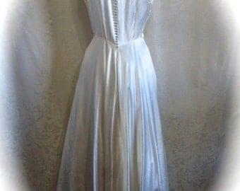 Wedding Dress XXS 1940's Charmeuse Satin