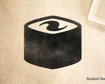 Sushi Roll 3 Rubber Stamp - 2 x 2 inches
