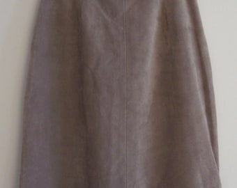 Suede Skirt Gray, Size 11/12