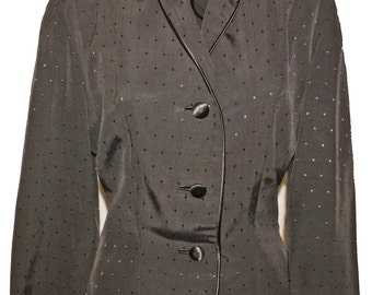 1950s Faille Suit Sz 4 Vintage Retro