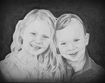 Custom Drawing, Custom Portrait, Custom Drawing from Photo, Pencil Sketch, Custom Portrait from Photo, Portrait Drawing, Grandparent Gift