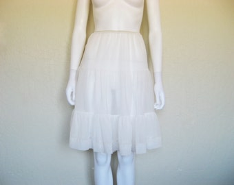 Vintage Semi Sheer Petticoat ruffled underskirt