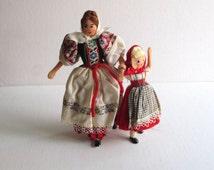 Vintage German BAPS Dolls Mother & Daughter Set
