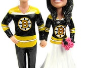 Custom Hockey Wedding Cake Toppers Sculpted to Look Like You