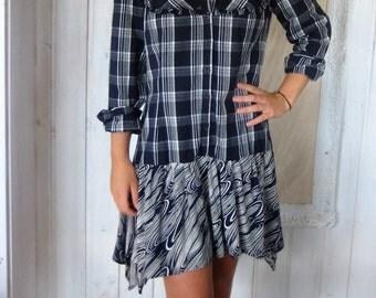 I Feel Good Upcycled  Refashioned Tunic Dress