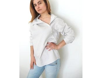 PDF Sewing Pattern Women's Cotton or Linen Shirt Sizes 38-40-42-44-46-48-50-52 n.32