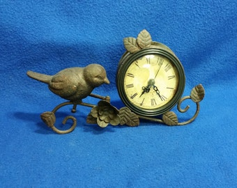 A Cast Iron Cafe Des Marguerites  Clock