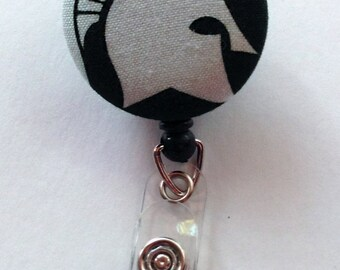 Michigan State Spartan Fabric Badge Reel / ID Holder - Sparty Football