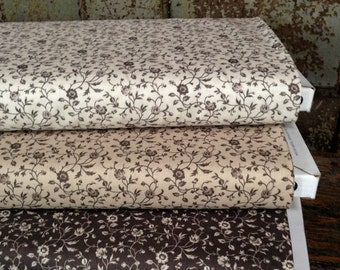 Fabric: 1 YARD - Shades of Grey - Small Floral - 41292 - by Nancy Gere for Windham Fabrics
