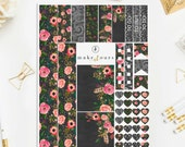 Make it Ours Weekly Layout Sticker Set for ECLP in Chalkboard Garden Style MIO010