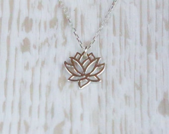 Sterling Silver Lotus Flower Necklace, Gift For Her, Best Friend, Girlfriend