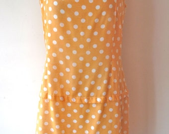 1960s-70s Polka Dot Dress