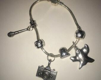 paranormal ghost hunter charm bracelet