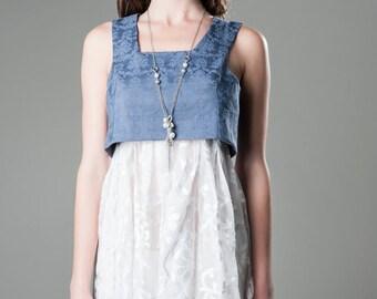 LaLove Designs Empire Waist Two Piece Dress with Sheer Underlayer