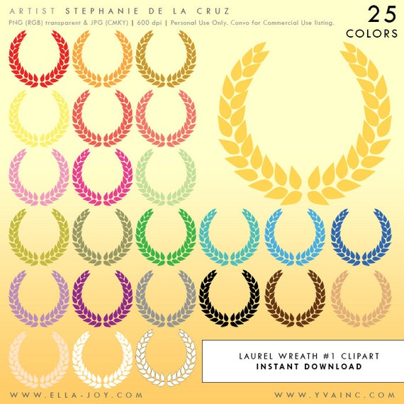 Laurel wreath clip art greek crown of leaves clipart wedding for Laurel leaf crown template