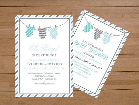 Gorgeous image pertaining to printable onesie baby shower invitations