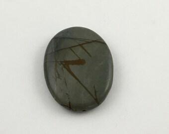 1 Picasso jasper stone bead / 30mm x 40mm  #PP014-10
