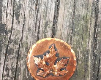 Vintage Copper Maple Leaf Brooch
