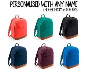 Stylish Student Freshman School Work Business University Backpack Personalised with ANY NAME