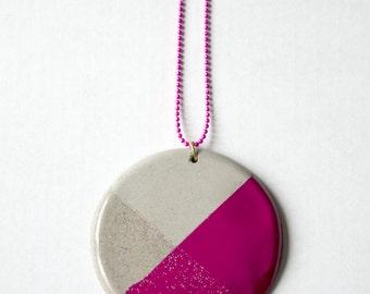 Feather concrete necklace