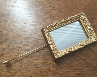 Mirror statement lapel pin
