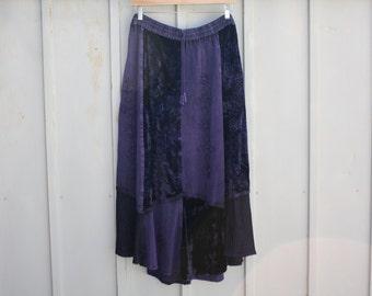 Bohemian Skirt, Patchwork Skirt, Plus Size Skirt, Hippie Skirt,