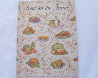 1950 Food for the Family Metropolitan Life Insurance Company Cook Booklet