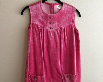 Pink 60's 70's  Women's Top or Child's Dress