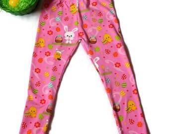 Easter cuff leggings/pants//girls//baby//toddler//bunny//easter outfit//bunny leggings//easter egg leggings//easter hunt leggings//kid