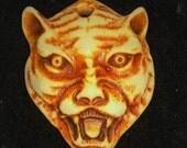 Visage of Feline // Hand Carved Cat Pendant