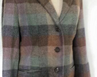 Vintage wool plaid 49er jacket