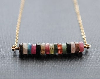 Tourmaline Necklace, October Birthstone Jewelry, October Necklace