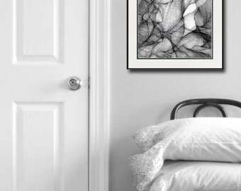 Charcoal art, charcoal drawing, abstract charcoal drawing, graphite drawing, Charcoal giclee print, graphite print, mixed media drawing