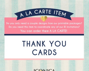 Thank You Card || Add On || Custom-made To Match Any Of Our Invitations || Any Type Of Event || Any Color || Digital File