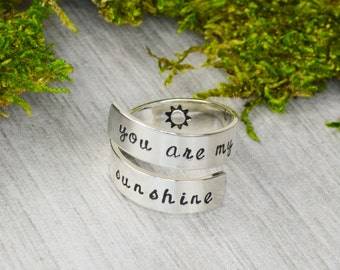 You Are My Sunshine Wrap Ring