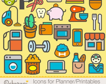 23 Icons For Planner/Printables