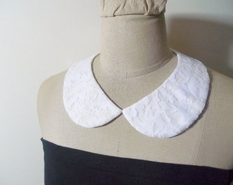 White Lace Collar Necklace Peter Pan Collar Detachable Collar