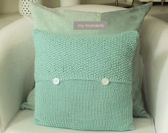 Knit PILLOW light gray melange