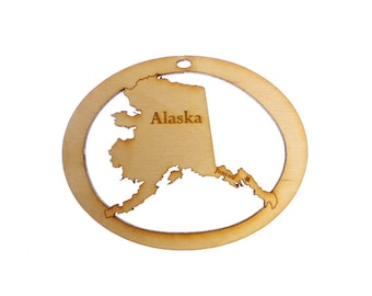 Alaska Ornament - Alaska State Ornament - Alaska Gift - Alaska Christmas Ornament - Alaska Ornaments - Alaska Gifts - Personalized Free