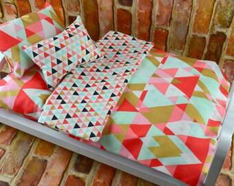 12 inch doll bedding | Doll Bedding Set | Fashion Doll Bedding | Dollhouse Bedding | 12 in Doll Bedding | Doll Blanket Mattress Pillows