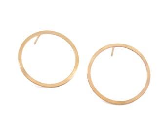 Gold Circle Earrings, Circle Stud Earrings, Hoop Post Earrings, Hoop Studs, Geometric Jewelry, Wholesale Jewelry Findings, Goldie Supplies