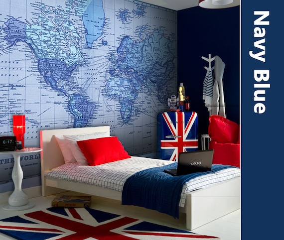 World Map Wall Mural Decal by AmericanDecals