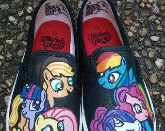 Handpainted My Little Pony Shoes