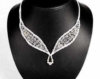 """Jewelry-Wedding necklace """"Eloïse"""""""
