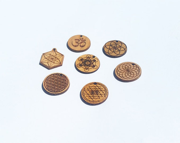 sacred geometry buttons Ø 2 cm