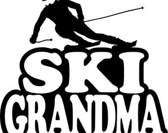 Ski Grandma Hoodie/ Ski Grandma Sweatshirt/ Ski Grandma Clothing/ Ski Grandma Gift/ Ski Grandma/ Boy Skier Ski Grandma Hoodie Sweatshirt